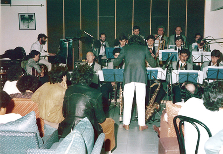 Con la Big-band del Mediterráneo.