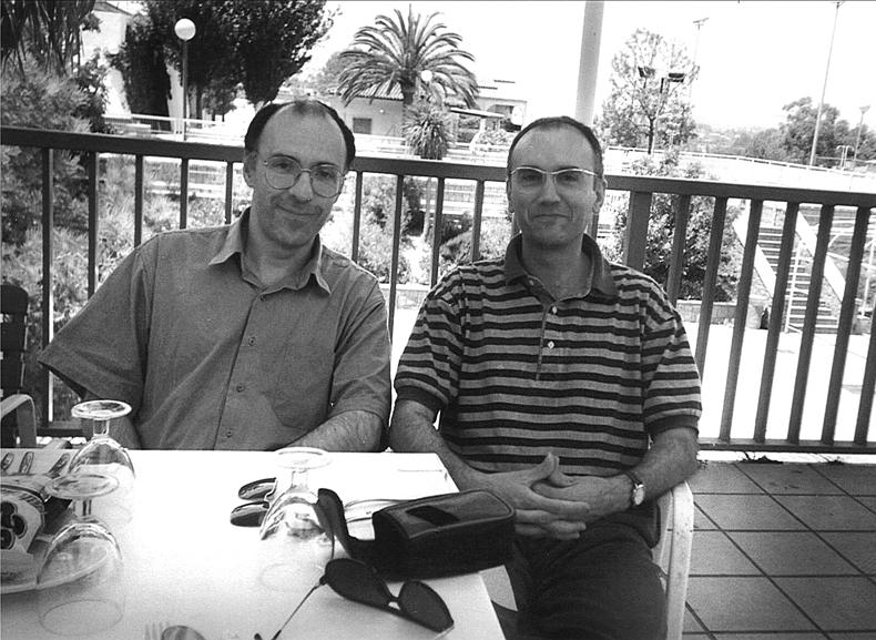 Con Carlos Bonell.