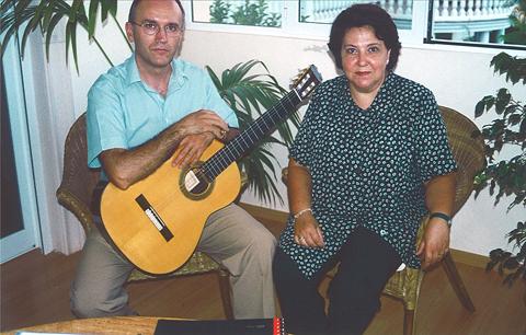 Con Carmen Marques.