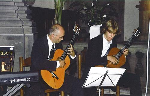 Concierto en Florencia a dúo con mi hijo Franc.