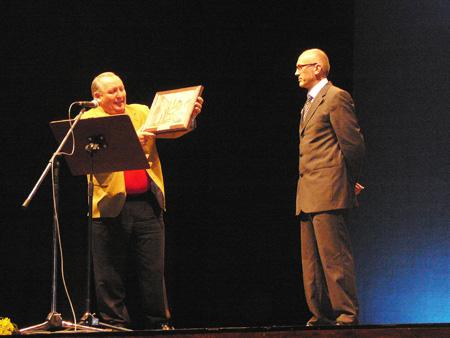 Homenaje de despedida como director del Conservatorio Municipal Profesional de Música de Riba-roja.