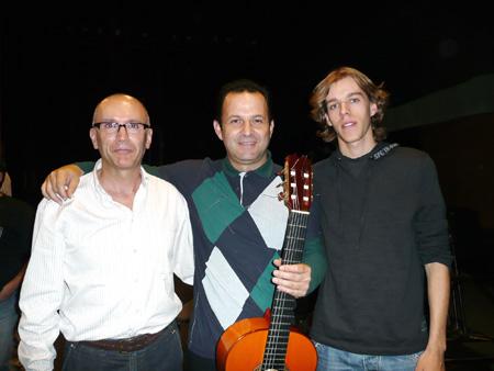Con Gerardo Nuñez y mi hijo Franc.