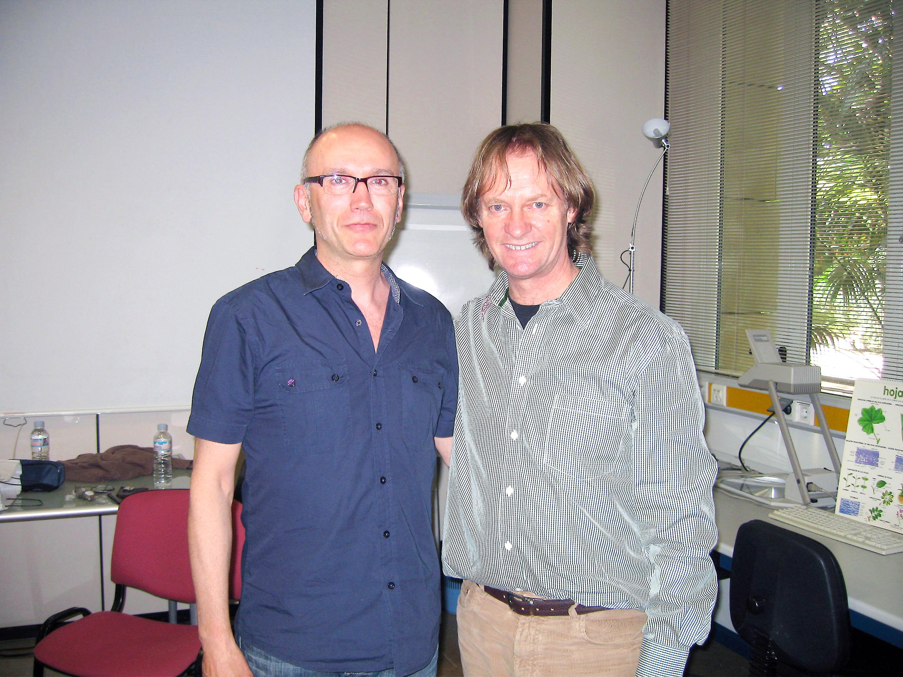 Con David Rusell.