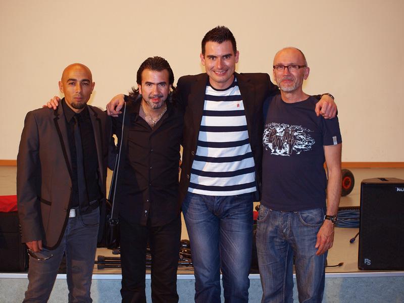 Con Carlos Piñana y su grupo.